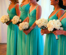 DressesRose YBM1 Spaghetti Straps V-neck Ruched Mint Green Long Bridesmaid Dresses 2016