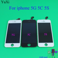 YuXi LCD Touch Screen For IPhone 5 5S 5C LCD Display Assembly With Digitizer Glass No