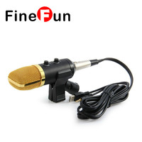 FineFun MK F100TL USB Condenser Sound Recording Microphone With Stand For Radio Braodcasting Chatting Singing Skype