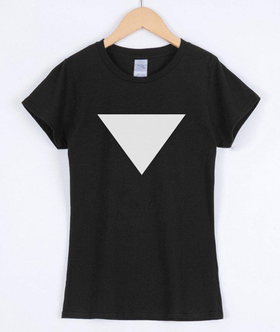 2019 Summer Fashion Women's T-shirts Triangle Cotton Casual Shirt For Top Tee Big Size Hipster Brand Clothing T-shirt Women Top