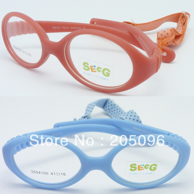 Retail sales 3554100 girl environmental TR90 bendable safety progresive oval eyeglass frames with adjustable strap free shipping