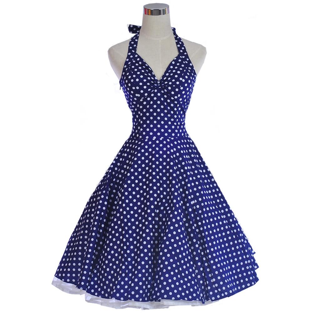 50er Jahre 60er Jahre Sexy Kleider Frau Sommer Rockabilly Kleid 50er - Damenbekleidung