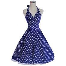1950S 60s Sexy Dresses Woman Summer Rockabilly Dress 50s 60s Swing Cotton Vintage Tea Dresses Pinup Polka Dots Vestidos De Playa