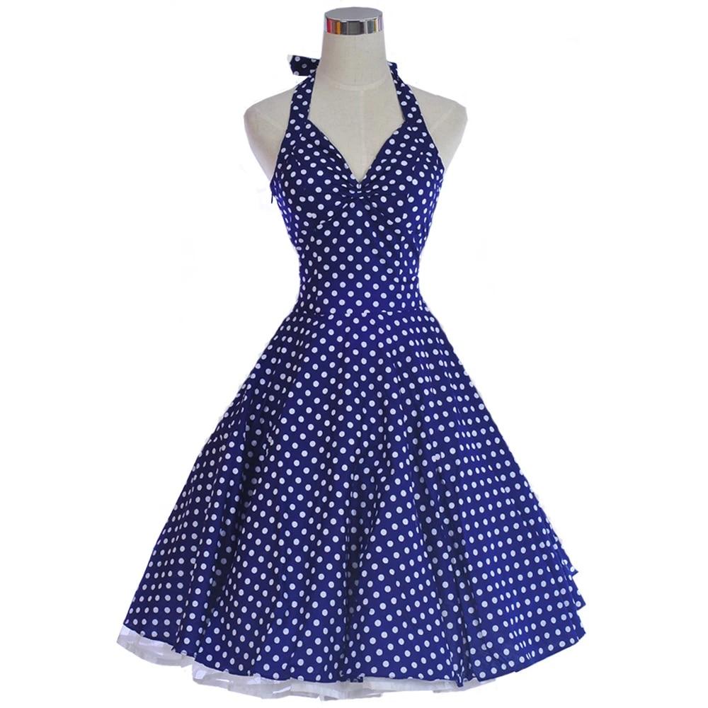 2 x BLUE BATH TOWELS white polka dot dots retro vIntage pin up 50s style cotton