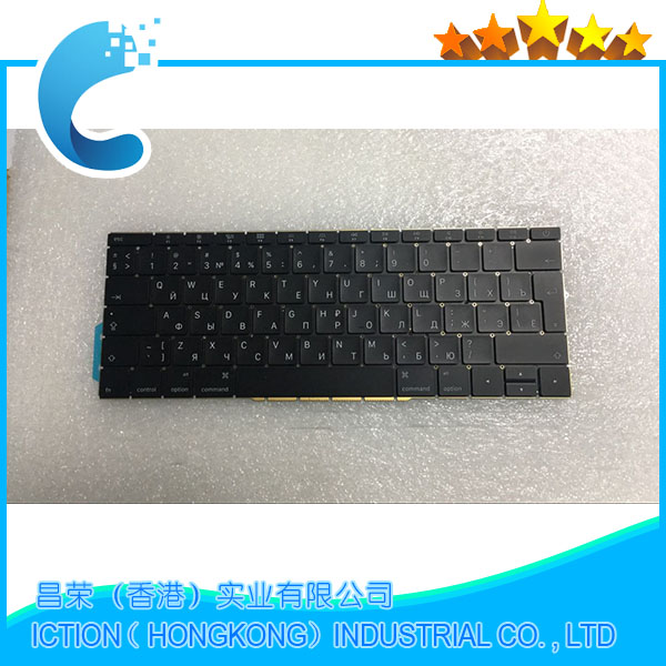 Original NEW A1708 Russian for Macbook Pro Retina 13 A1708 Russian Russia RU Keyboard Late 2016 Mid 2017 Year Big Enter Keys image
