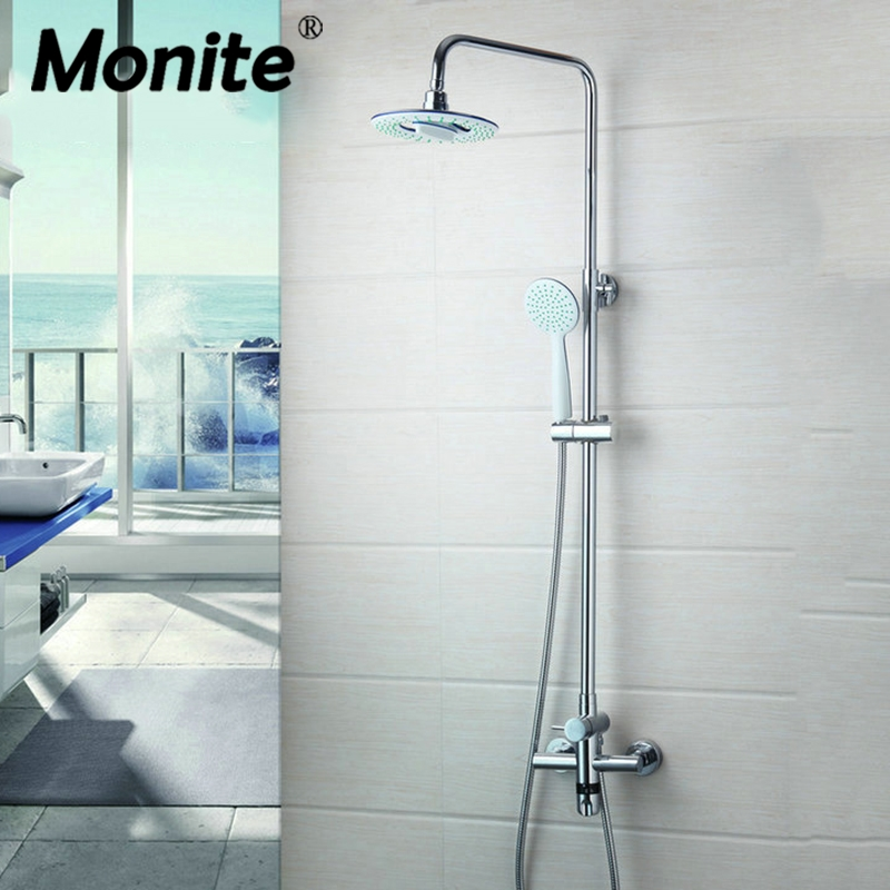 Thermostatic Faucet 50271 Wall Mount Bathroom 8 Rain Shower Head Chrome+Heldhead Shower Faucet Set Bathtub Mixer Tap Torneira 260 1 12 50271