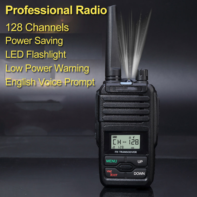 YANTON Mini Bande Unique VHF 136-174 ou UHF 400-480 MHz Portable Two Way Radio 5 W 128 Canaux de Mémoire Talkie Walkie