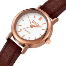 Korean fashion simple retro small round belt watch students watches fresh temperament WristWatch