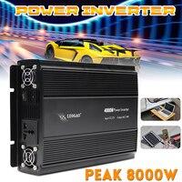 Мощность инвертор P ЕАК 8000 Вт 4000 Вт DC 12 В к AC 220 В/110 В автомобильный адаптер процессор Зарядное устройство меандр изменение чистый синус с охл