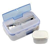 Лидер продаж 1000 мл прочный коробки для обедов еда контейнер Экологичные Портативный коробка бэнто для микроволновой печи Ланчбокс BPA беспл...