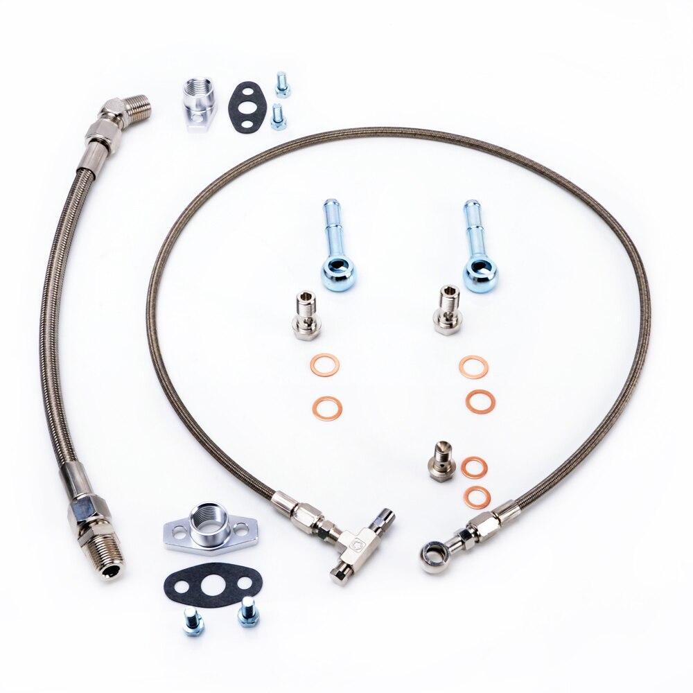 Kinugawa Kit d'installation Turbo 35 cm pour Garrett GT2860R GT3076R GT3037 GT3582R roulement à billes