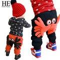 ÉL Hola Disfrutar de los bebés de los pantalones de Invierno cálido pantalones harén niña Un cangrejo Con gruesa de algodón pantalones de niño del bebé
