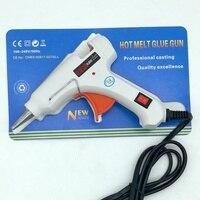 20 w AC 100 240 v Elettrico Hot Melt Glue Gun Con Indicatore di illuminazione a Casa Colla Pistole di Riscaldamento artigianato Repair Tool Spina di UE-in Pistole per colla da Attrezzi su