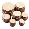 1 упаковка необработанные сосны натуральные круглые деревянные ломтики круги с деревом лай бревна диски для поделок своими руками Свадебна...