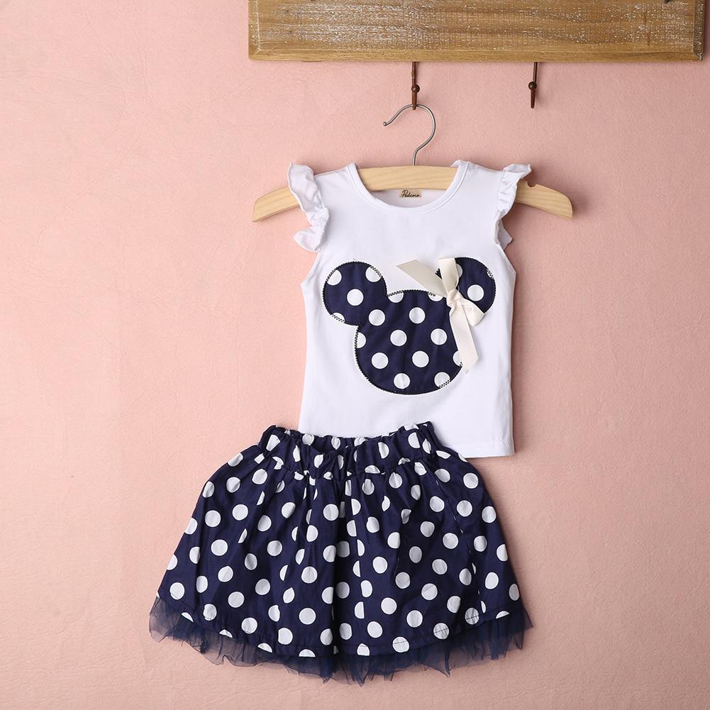 e4b1c07ee € 3.23 20% de DESCUENTO|Mono niños niñas Minnie Mouse vestido chaleco Tops  falda niño ropa conjunto en set de ropa de Madre y niños en ...