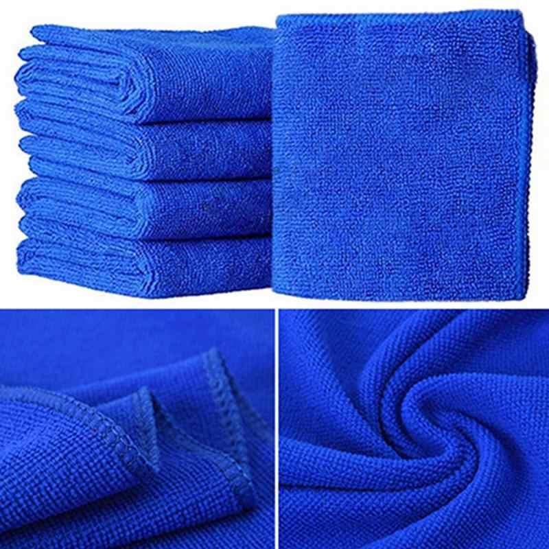 Trapo de limpieza de microfibra suave para coche de 5 uds./1 Uds., toallas de microfibra para limpieza del hogar del coche de 25x25 cm