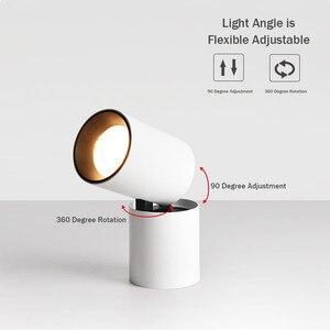 Image 3 - [DBF] 접이식 LED 표면 장착 Downlight 7W 12W 블랙/화이트 하우징 360 학위 회전 3000K/4000K/6000K 천장 스포트 라이트
