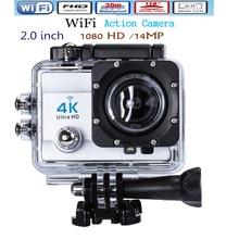 Ultra HD 4 K 14MP Cámara de Acción WIFI Videocámara 1080 P 2.0 pulgadas 170 Grados Lente ir 30 M A Prueba de agua pro Acción Cam Envío gratis