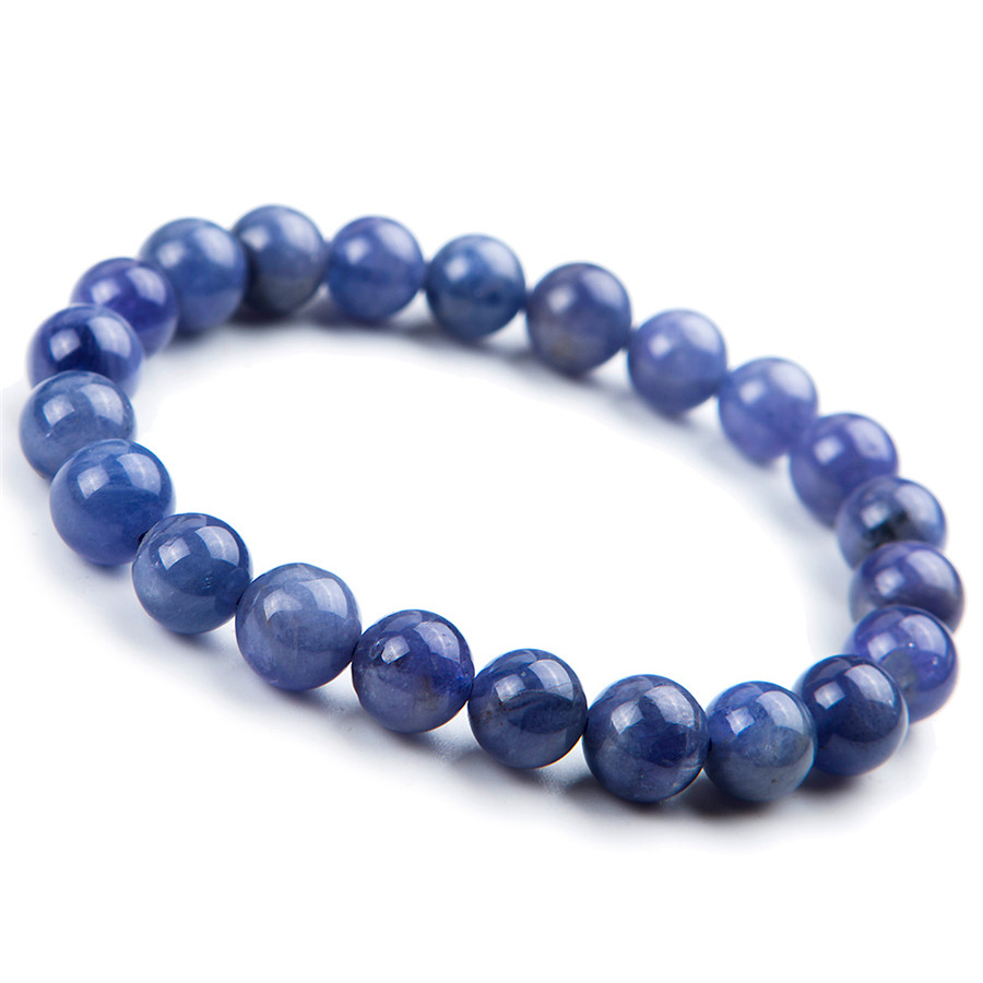 8mm Genuine Blue Zoisite Natural Stone Women Femme Charm Stretch Round Crystal Bead Bracelet 8 5mm natural zoisite gem stone crystal round bead bracelets for women femme charm stretch bracelet