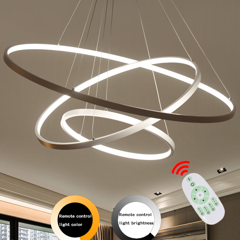 Modern Led Pendant Lamp Dinning Pendant Lights Luminaire Ring Lustre Lamp Lamparas Restaurant Lighting Home Decor Light Fixtures modern tiffany glass led pendant lights lamp fixtures e27 220v for decor dinning room kitchen bar restaurant home lighting