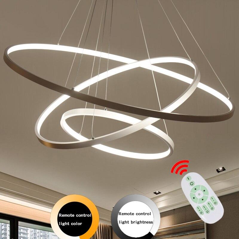 Modern Led Pendant Lamp Dinning Pendant Lights Luminaire Ring Lustre Lamp Lamparas Restaurant Lighting Home Decor Light Fixtures