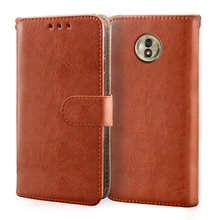 Luxury Leather Case For Motorola Moto G5 G5S G6 G7 E4 E5 E6 Plus Play Case Flip Wallet Card Stand and silicone Cover Phone