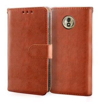 Luxury Leather Case For Motorola Moto G5 G5S G6 G7 E4 E5 E6 Plus Play Case