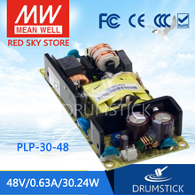 Meanwell PLP-30-48 48V 0.63A meanwell PLP-30 30,24 W одиночный выход индикатор питания