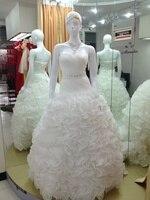 casamento ruffles bandage dress organza vestido de noiva renda 2016 fashionable ball wedding Dress bridal gown free shipping