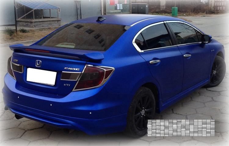 Clip Type Different Colors Painted Abs Car Rear Trunk Spoiler Wing