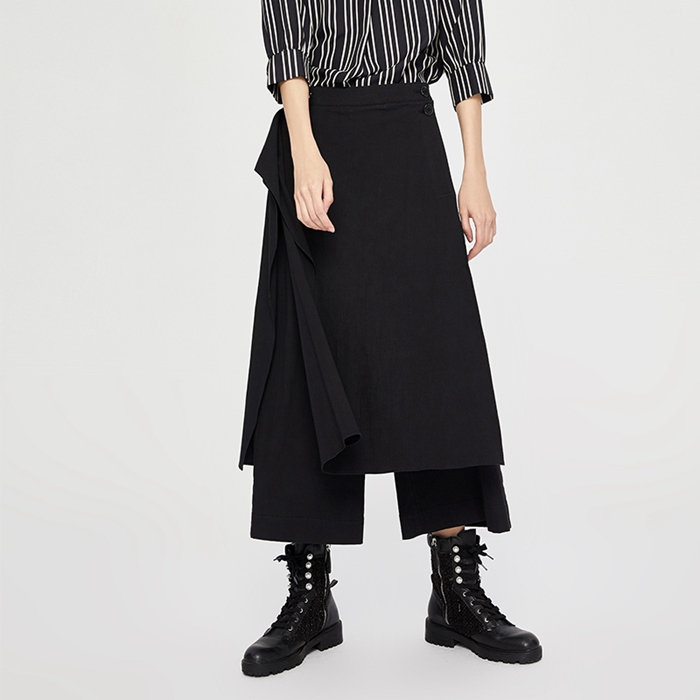 Toyouth Women Casual Loose   Wide     Leg     Pants   Womens Elegant Fashion Preppy Style Trousers Female Pure Color Females Palazzo   Pants