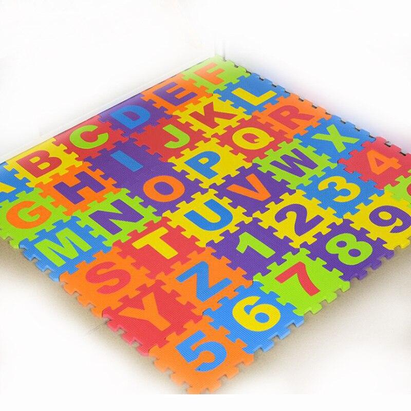 36Pcs/set ABCD/Number Pattern Foam Puzzle Kids  Rug Carpet Split Joint EVA Baby Play Mat Indoor Soft activity Mats