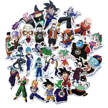 50 pcs Mixed Cartoon Toy Stickers for Car Styling Bike Motorcycle Phone Laptop Luggage Dragon Ball Suitcase