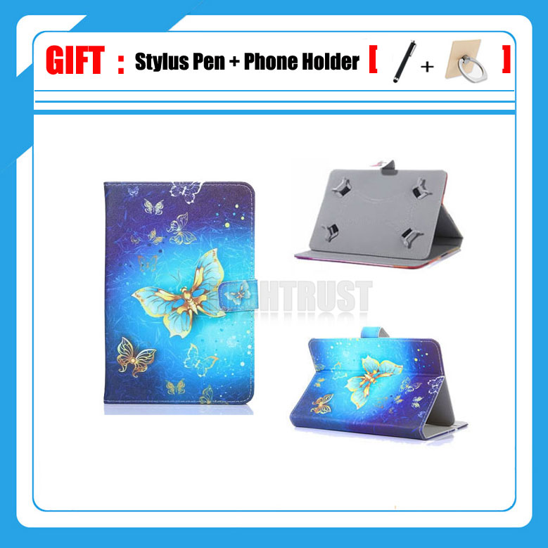 3in1 Universel 10.1 pouce Couverture Pour PiPO P1/M6 Pro/M1 Pro 10 10 pouce Tablet Imprimé PU Cuir Stand Cas (pas de caméra trou) + Cadeau