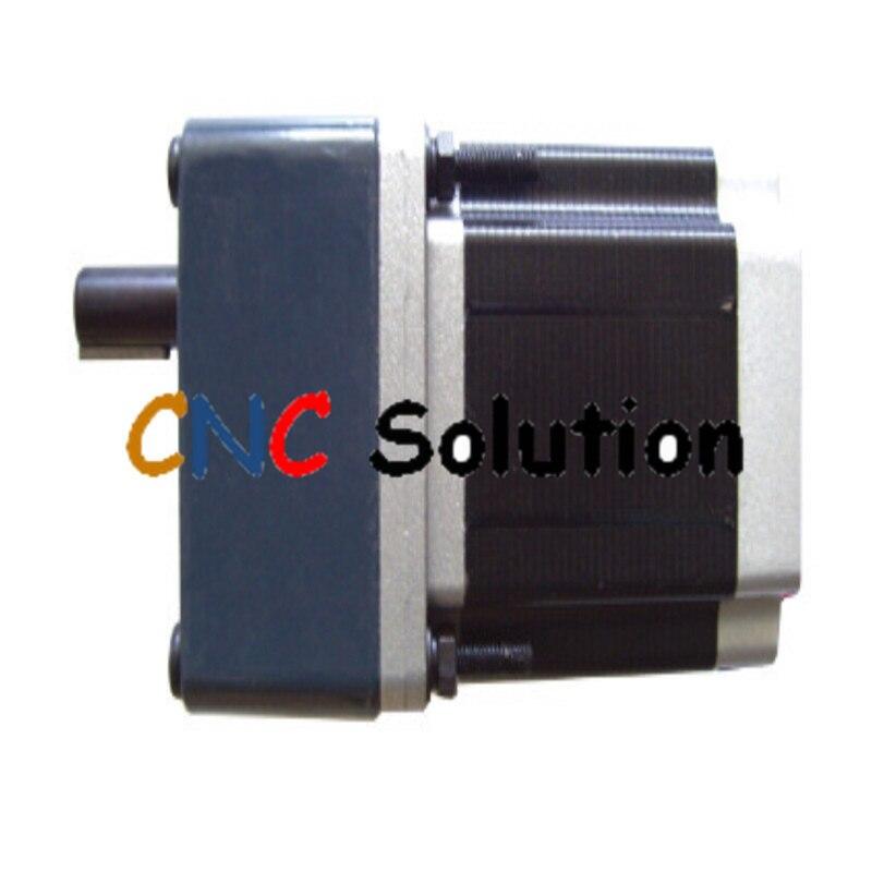 New 86BYG Nema34 ratio 50:1 gear box stepper motor L 98mm 6A 6.5NM CNC 86byg gearbox geared stepper motor ratio 20 1 nema34 l 98mm 6a cnc router