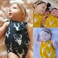 Natal Do Bebê Recém-nascido Meninas Meninos Bodysuit Sem Mangas One-pieces Roupas Veados Natal Sunsuits 0-24 M