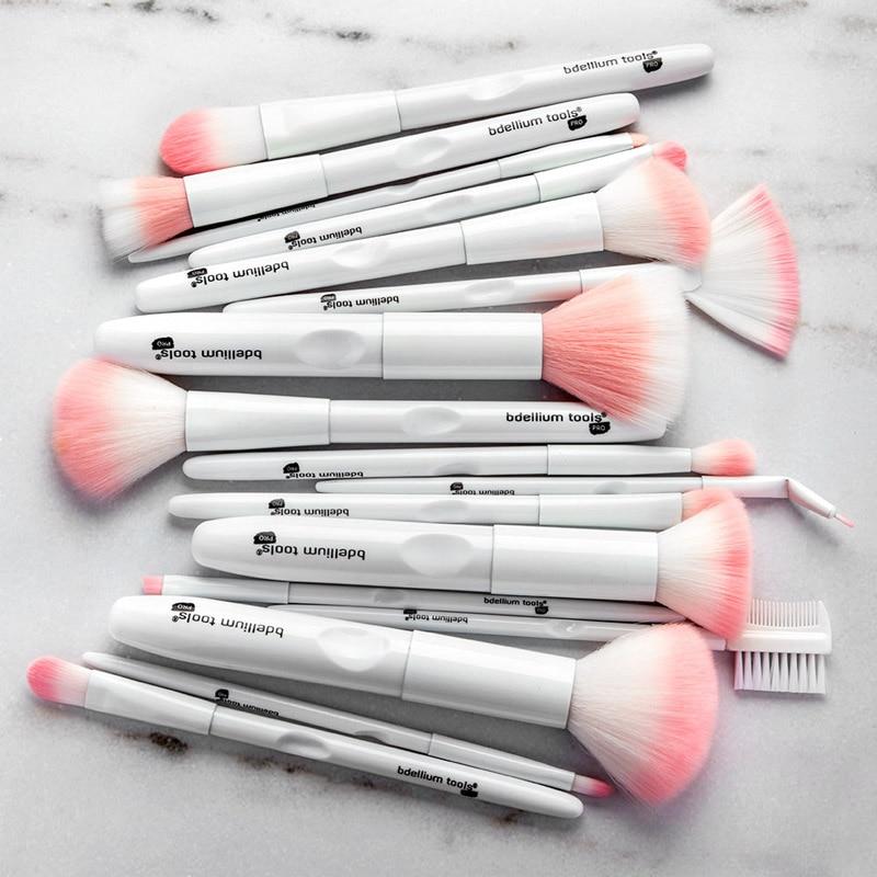 17pcs white makeup brushes (2)