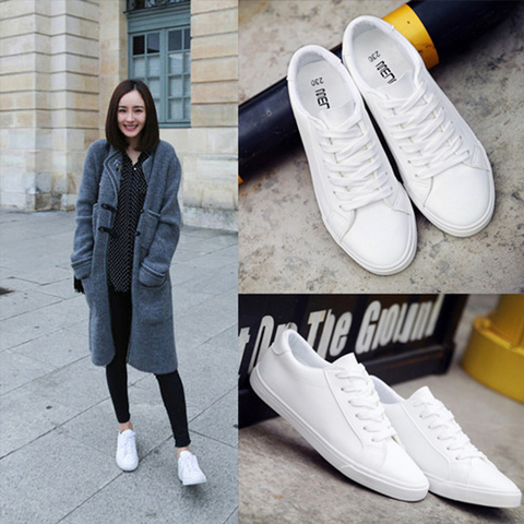 shoes white Women Running Shoes Designer Brand Sneakers Women Walking Shoes PU Leather Comfortable Lace-up Women jogging shoes Islamabad