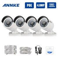 ANNKE 4pcs HD 4MP IP Network PoE Outdoor IR CUT 3D DNR CCTV Home Security Camera