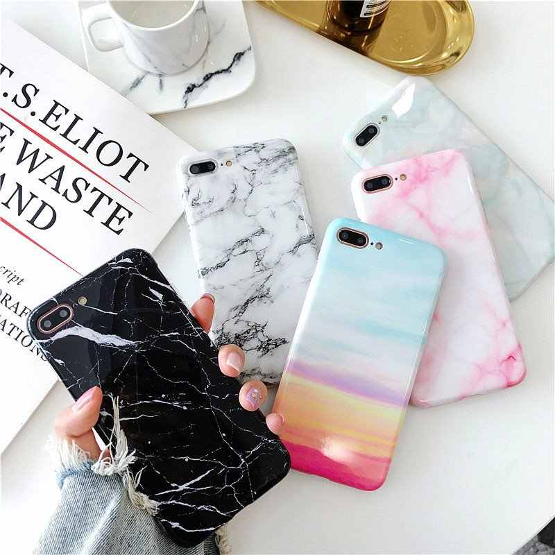 Fashion Smooth Marble Texture Pattern Cover Cases For Xiaomi Redmi Note 6 6 7 Pro Mi 8 9 Lite Solf Silicone Back Protect Funda