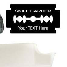Man Barber Shop Sticker Name Bread Blade Decal Haircut Shavers Posters Vinyl Wall Art Decals Decor Windows Decoration Mural