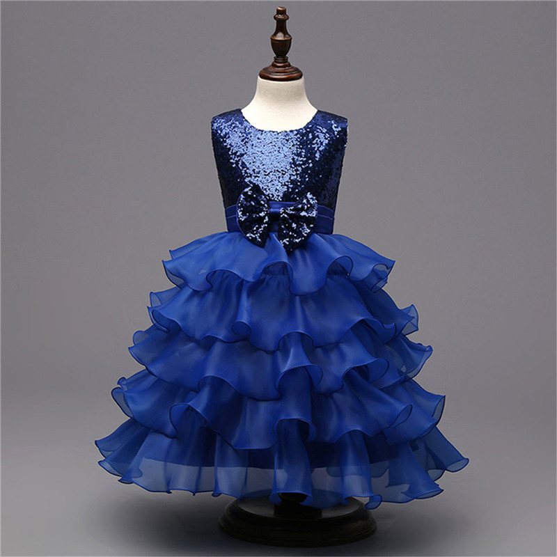 Подробнее о Princess Dress Costumes for Kids Clothes 2017 Brand Summer Girls Dresses for Party and Wedding Sequin Bow Children Clothing baby girls dresses brand princess dress girl clothes kids dresses children costumes 3 14 years old