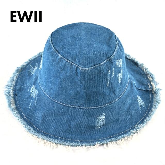 e50a74b758f Summer wide brim caps women fedora cowboy bucket hat Ladies bob sun cap  women cotton floppy hats for women chapeau femme