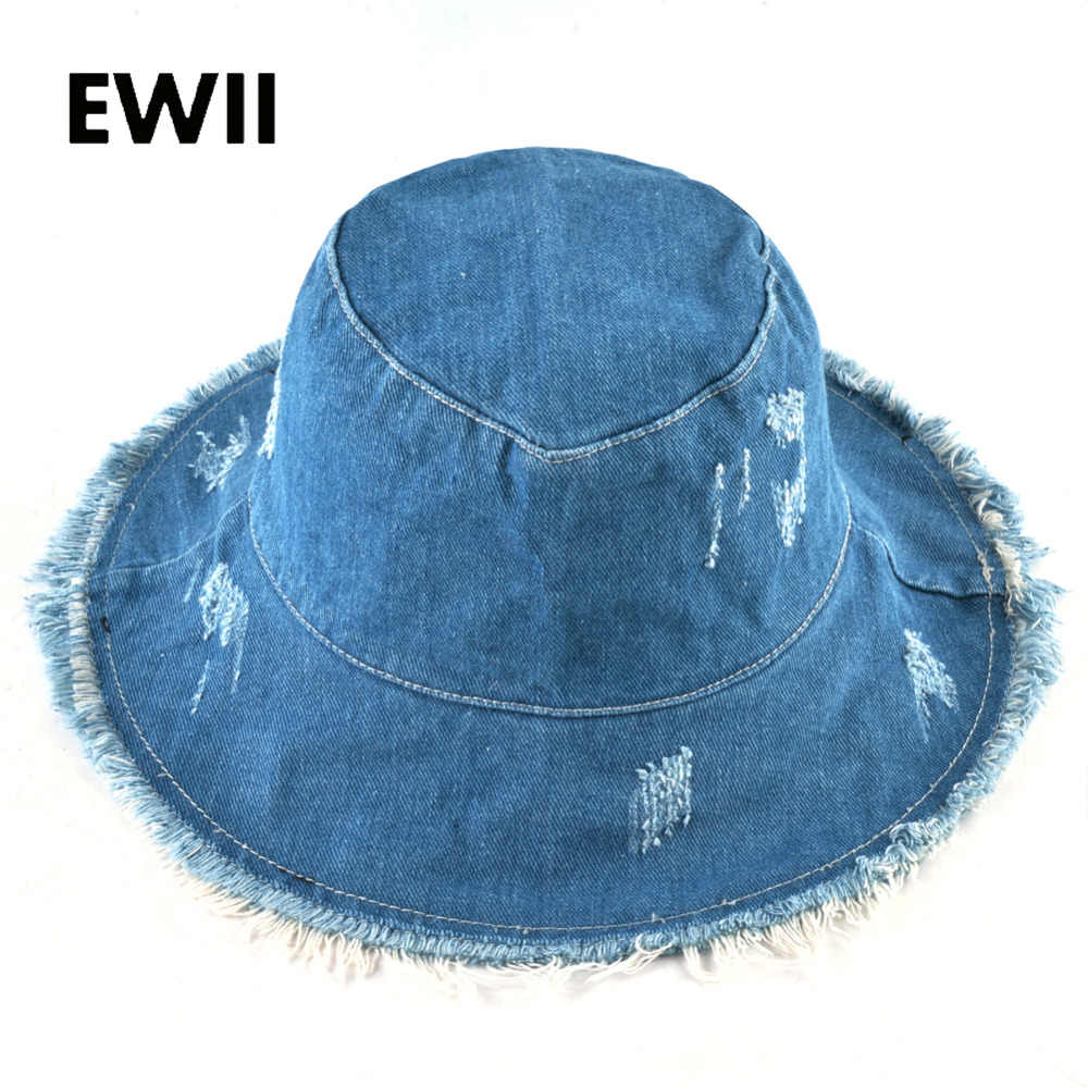 Été large bord casquettes femmes fedora cowboy seau chapeau dames bob soleil casquette femmes coton disquette chapeaux pour femmes chapeau femme