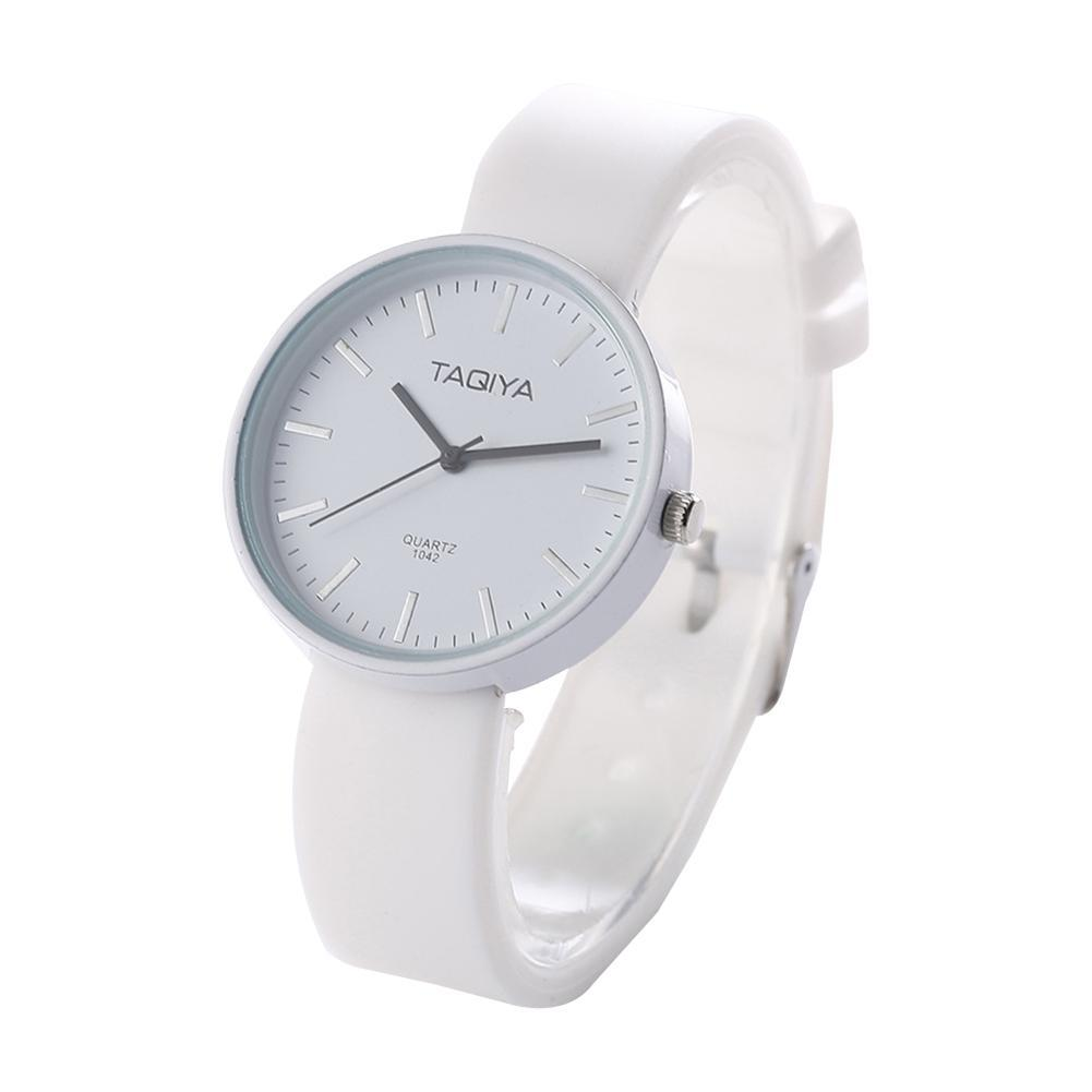 5 Colour Simple Style Fashsion Cool Silicone Watch  Women Watches Quartz Wristwatch Clock For  Ladies Female Students