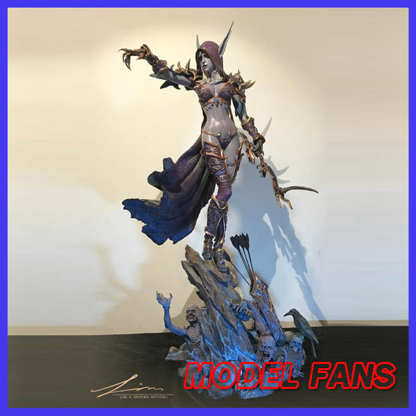 MODEL FANS INSTOCK wow Sylvanas Windrunner 66cm height gk resin statue contain light eye figure for collection sylvanas windrunner classic toys for boys model figure without retail box