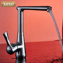 XOXO Chrome plated single processing kitchen faucet rotate 360 degrees hot and cold water tap X1261