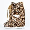 Leopard Women Shoes Wedge Heels Round Toe Cut-Out Platform Nude Bottom Shoes Women Size 12 Wholesale Pumps Online Shoes Women