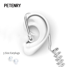 In-Ear Earphone Headset Earbuds Mini with Mic Radiation-Protection Air-Tube Walkie Fbi-Style