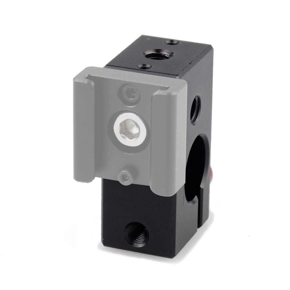 "MAGICRIG Rod Clamp 15mm Rail Clamp 1/4 ""-20 ด้ายสีแดงลูกบิดสำหรับ DSLR 15 มม. rod ติดตามสนับสนุนระบบกล้อง Rig-216"